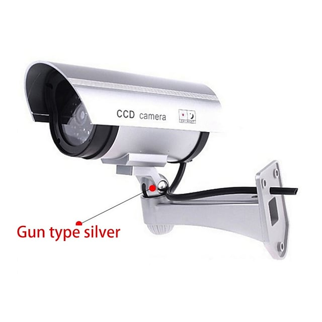 simulation fake dummy camera outdoor indoor waterproof security cctv  solar energy simulate cameras with led light