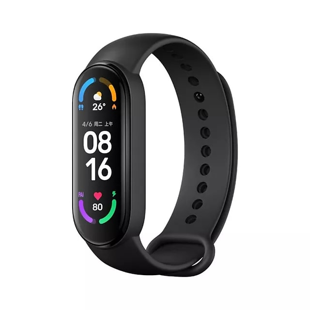 Xiaomi Band 6 Smart Band Fitness Bracelet Bluetooth 1.56 inch Screen Touch Screen Blood Pressure Measurement Sports Pedometer for Android iOS Men Women