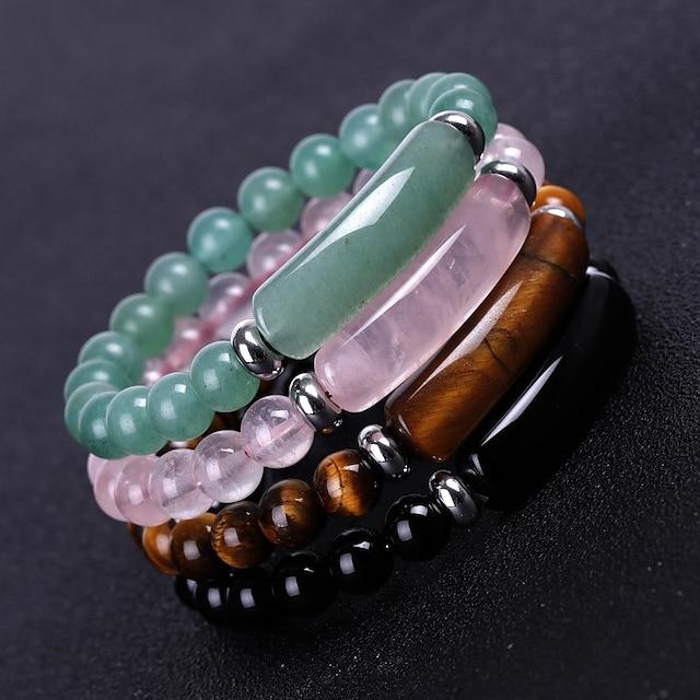 Women's Bead Bracelet Classic Totem Series Fashion Stone Bracelet Jewelry Black / Blue / Red For Formal Festival