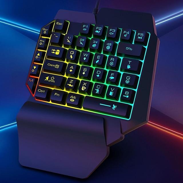 k15 billentyűzet izzó karakterek erős ellenálló képesség rgb egykezes mechanikus játék billentyűzet számítógéphez