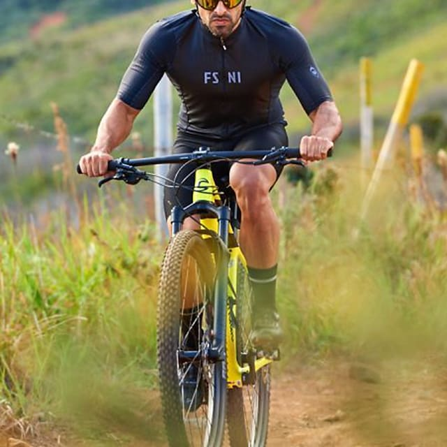 Women's Men's Short Sleeve Triathlon Tri Suit Summer Black Patchwork Bike Quick Dry Breathable Sports Patchwork Mountain Bike MTB Road Bike Cycling Clothing Apparel / Stretchy / Athletic