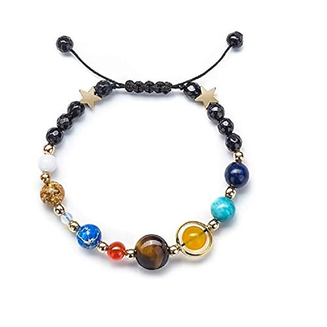 solar system bracelet beaded universe galaxy the eight planets guardian star natural stone beads rope woven bracelet bangle jewelry gifts for women girls-rope