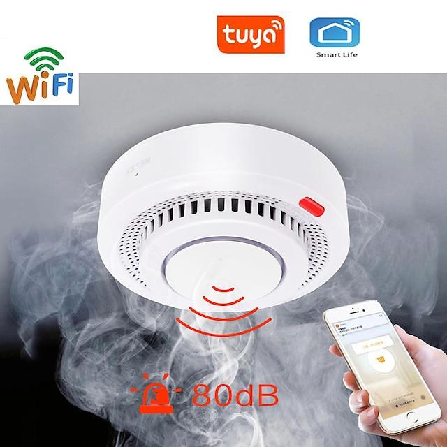 tuya wifi אזעקת עשן הגנה מפני אש גלאי עשן שילוב מעשן אש כיבוי אש מערכת כיבוי אש