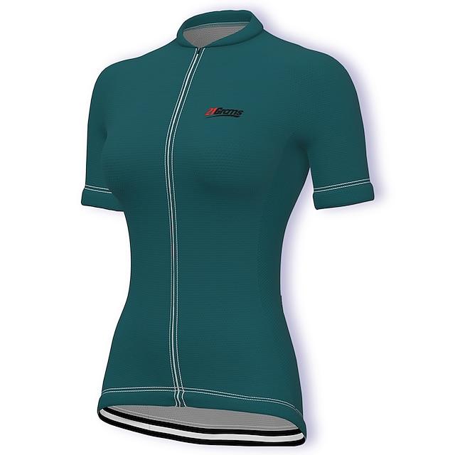 21Grams 半袖 レディース サイクリングジャージー 自転車ウェア トレーニング スポーツ インナー トップス 速乾性 吸汗性 高通気性 夏 伸縮性あり UVカット アスレイジャー 反射性ストリップ 後ポケット 大きいサイズあり