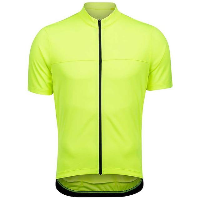 21Grams Муж. С короткими рукавами Велокофты Лето Спандекс Полиэстер Зеленый Сплошной цвет Флуоресцент Велоспорт Джерси Верхняя часть Горные велосипеды Шоссейные велосипеды / Быстровысыхающий