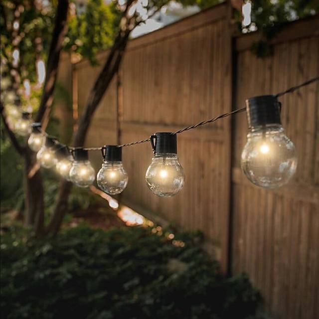 ha condotto le luci della stringa solare luci della stringa di nozze all'aperto 6m 30 lampadine stringa di palla da giardino impermeabile alimentata a energia solare per natale layout della festa