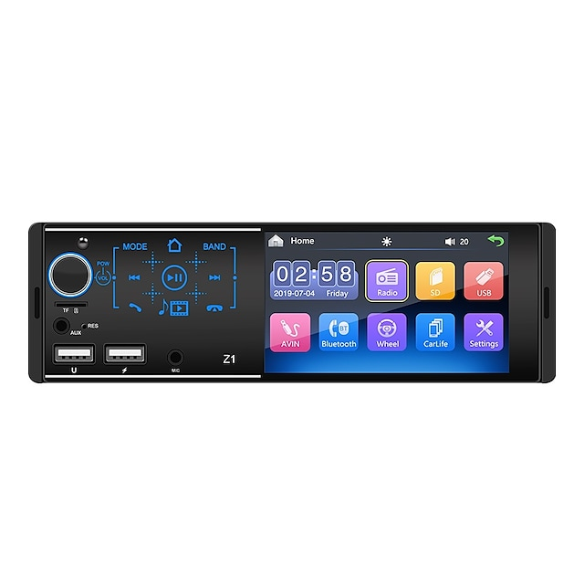 Z1 4.1 inch 1 DIN Car MP5 Player Touch Screen / MP3 / Radio for Support AVI / ASF / 3GP MP3 / WMA / WAV JPG
