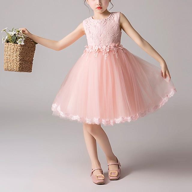 Детское платье для маленьких девочек, кружевное платье с цветочным рисунком для вечеринки, однотонное повседневное платье принцессы, белое, фиолетовое, краснеющее, розовое, сетчатое, кружевное, из