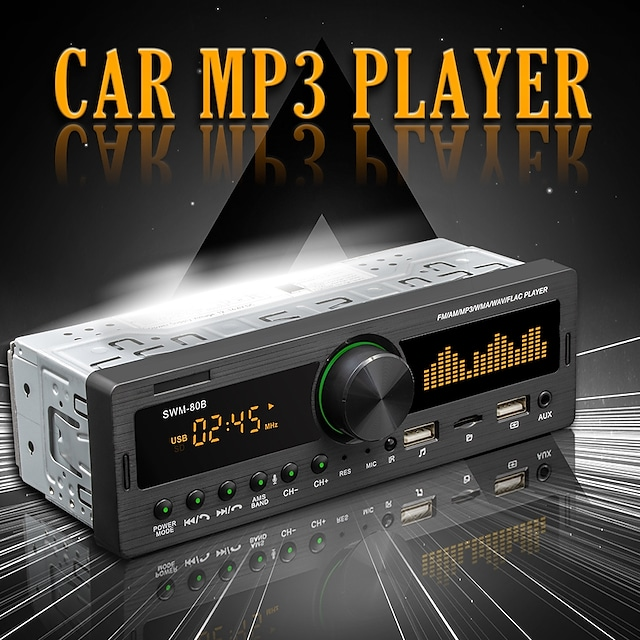 SWM-80A 1 DIN Car MP3 Player MP3 / Radio / Stereo Radio for Support MP3 / WMA / WAV