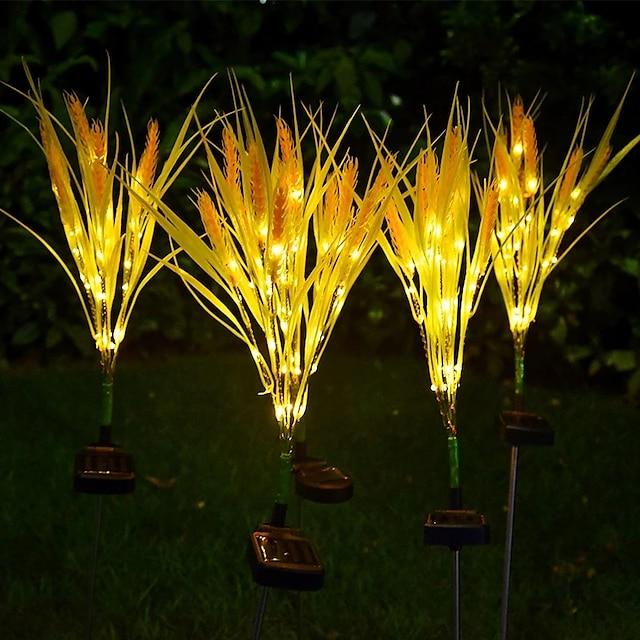 Outdoor solar verlichting waterdichte led tarwe oor lamp binnenplaats tuin patio decoratie nachtlampje pad gazon led landschap lamp led solar tuin licht