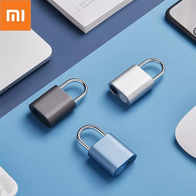 Xiaomi Fingerprint Padlock  One Touch Open IPX7 Waterproof From Xiaomi System For Smart Home NOC LOC