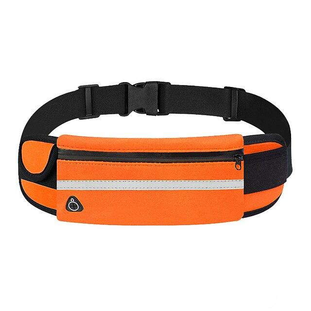 허리 가방 다기능 방수 경량 통기성 집 밖의 하이킹 달리기 피트니스 옥스퍼드 섬유 블루 다크 그레이 네이비 블루 / 마라톤