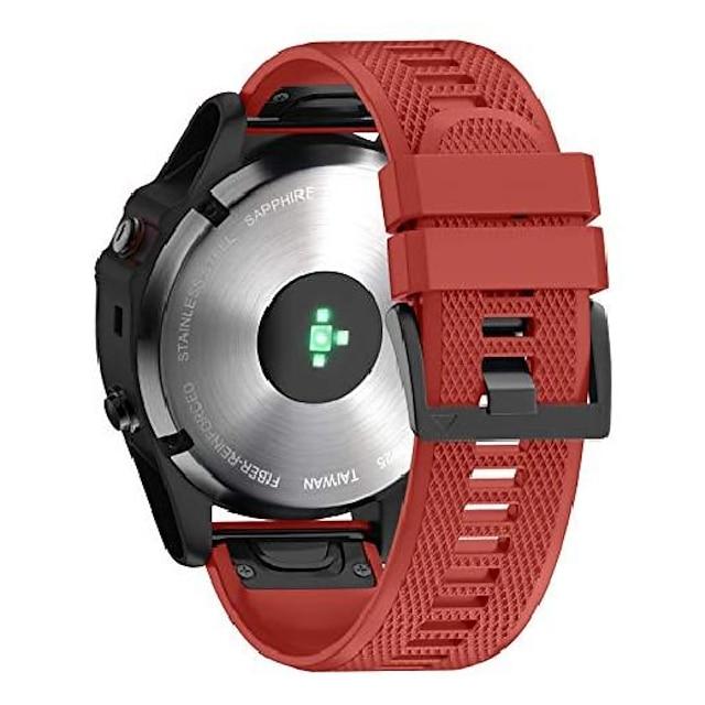 βραχιόλι ζώνης smartwatch για garmin fenix 6x / fenix 6x pro / fenix 5x / fenix 5x plus / fenix 3 / fenix 3 hr, λουράκι σιλικόνης πλάτους 26 χιλιοστά, λουράκι ρολογιού γρήγορης προσαρμογής για garmin