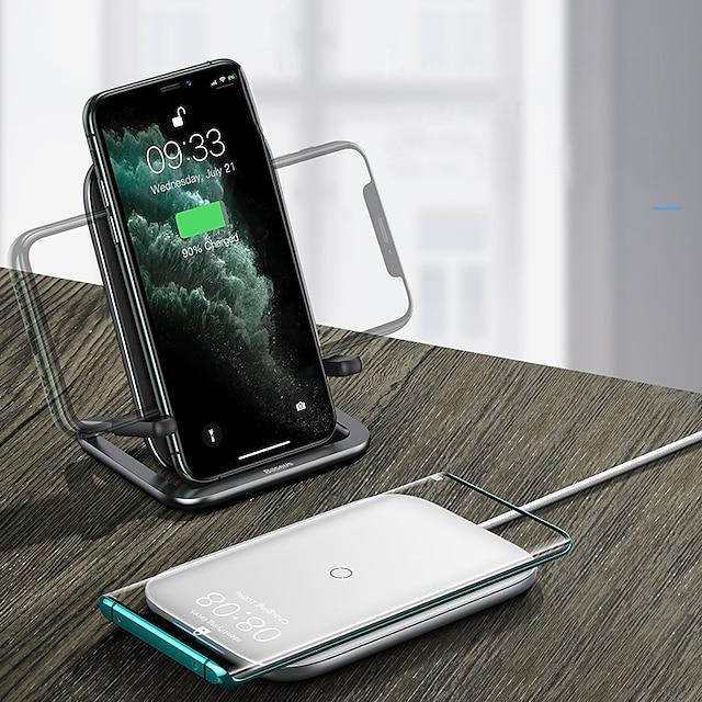 BASEUS 15 W Çıkış Gücü Diğer Hızlı şarj Telefon şarj aleti Kablosuz Şarj Aleti Kablosuz Şarj Aleti Hızlı Şarj Uyumluluk Evrensel Ceptelefonu