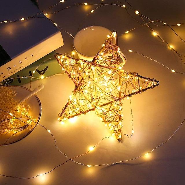 30 kom. 12kom. 6kom. Bajkovite lampice na bateriju (uključene) 600led 240led 120led mini žaruljice vodootporne bakrene žice krijesnice zvjezdaste lampice za Halloween party božićne festivale ukrasi