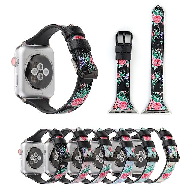 Slimme horlogeband voor Apple  iWatch 1 pcs Gedrukte armband Canvas Vervanging Polsband voor Apple Watch-serie 7 / SE / 6/5/4/3/2/1 Apple Watch-serie SE / 6/5/4/3/2/1