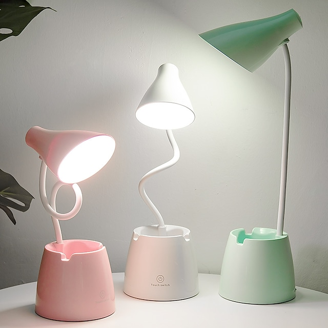 Desk Lamp / Reading Light Rechargeable / Dimmable Modern Contemporary USB Powered For Indoor / Office <5V White