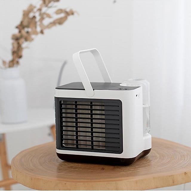 mini enfriador de aire portátil acondicionador de aire arriba y abajo ajuste libre usb enfriador de espacio personal ventilador ventilador de refrigeración por aire ventilador recargable escritorio