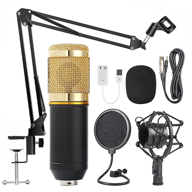BM800 Professional Condenser Microphone 3.5mm with Cable karaoke Recording Microphone for KTV Karaoke Computer