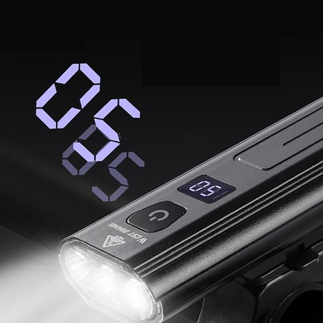 led kerékpár fény elülső kerékpár lámpa led kerékpár kerékpározás vízálló szuper fényes tartós újratölthető li-ion akkumulátor 1000 lm usb kemping / túrázás / barlangászat mindennapi használatra kerékpározás / kerékpár