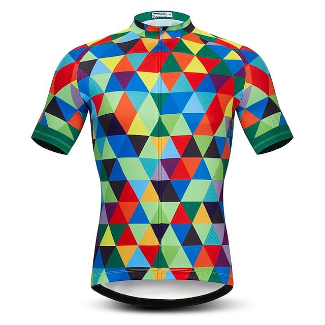 21Grams Men's Short Sleeve Cycling Jersey Summer Spandex Polyester Black / Red Purple Blue Bike Jersey Top Mountain Bike MTB Road Bike Cycling Quick Dry Moisture Wicking Breathable Sports Clothing