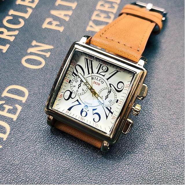 สำหรับผู้ชาย นาฬิกาตกแต่งข้อมือ ระบบอนาล็อก นาฬิกาอิเล็กทรอนิกส์ (Quartz) มีสไตล์ ปุ่มหมุนขนาดใหญ่ / หนึ่งปี