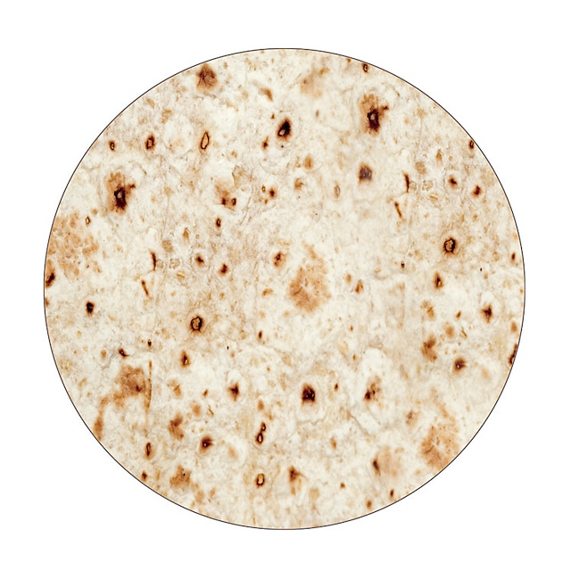 pătură burritos, tortilla cu față gigantă pe două fețe, pătură cu mai multe culori, fibră superfină, rotundă, pizza / clătite mexicane eșarfă de mătase cu model pentru călătorii, camping, piscină, în aer liber sau picnic