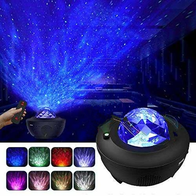 Star Projector Galaxy Projector Starry Sky Projector with Remote Control Nebula Cloud Moving Ocean Wave Projector  With Bluetooth Speaker for Bedroom/Decoration/Birthday/Party