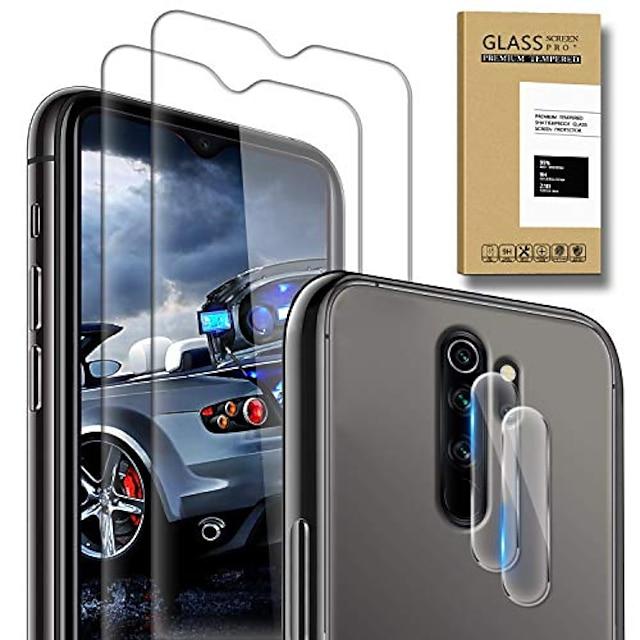 telefono Proteggi Schermo Per XIAOMI Mi 11 Redmi Note 9T Mi 10 Pro Mi 10T 5G Redmi Note 9 4G Vetro temperato 4 pezzi Alta definizione (HD) Anti-graffi Proteggi-schermo frontale Appendini per cellulare