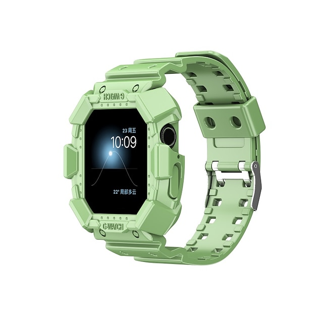 Bracelet de montre connectée pour Apple  iWatch Bracelet Sport Silicone Remplacement Sangle de Poignet pour Apple Watch Série 7 / SE / 6/5/4/3/2/1 Apple Watch série SE / 6/5/4/3/2/1