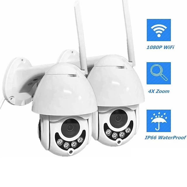 telecamera di sorveglianza wireless a cupola a infrarossi wifi smart monitor rotazione bidirezionale citofono vocale ptz