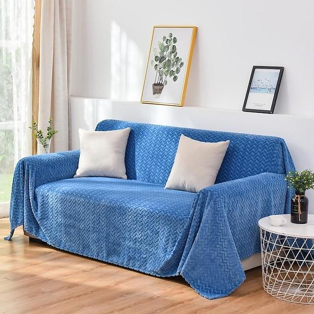 capa do sofá cobertor do sofá em relevo / de pelúcia com padrão de orelha de trigo cobertor do sofá / adequado para 1-4 sofá almofadado e sofá em forma de l