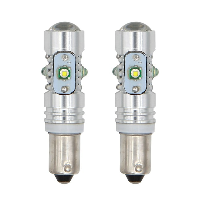 1pc ba9s h21w t4w led bay9s bax9s luz de mapa trasera del coche lámpara de bombilla lateral luz de ancho automático lámpara de marcha atrás blanca 12v sin error