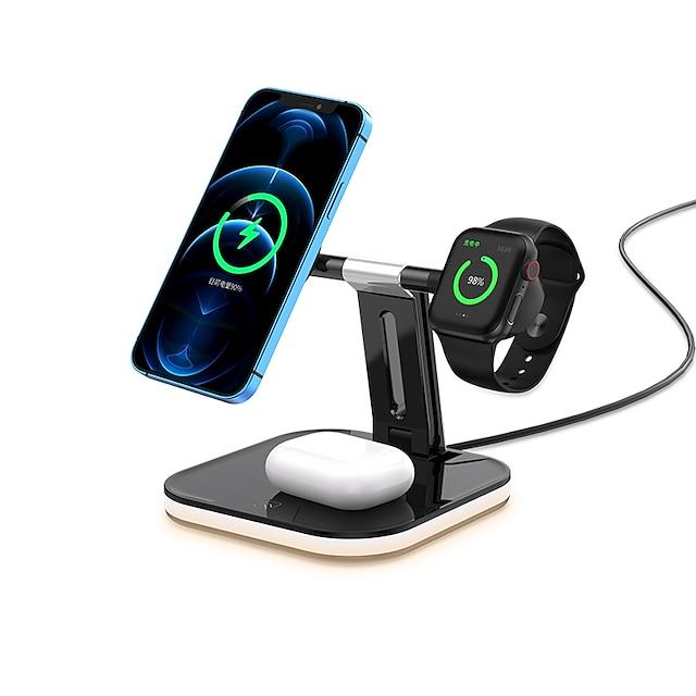 15 W Ausgangsleistung USB C Schnellladegerät Kabelloses Ladegerät Kabelloses Ladegerät Schnellladen Für Apple Watch Mobiltelefone