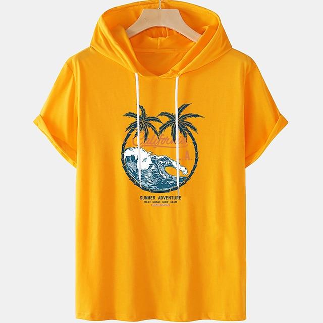 Herre Unisex T-skjorter T skjorte Varm stempling Grafiske trykk Tre Sprøyte Store størrelser Kortermet Avslappet Topper 100 % bomull Grunnleggende Designer Stor og høy Hvit Svart Blå