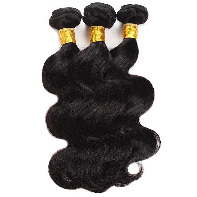 Ishow 3 Bundles Human Hair Weaves Brazil Hair 100% Human Hair 3 Pieces Body Human Hair Combination Outfit 8-28 Inch Hair Extensions