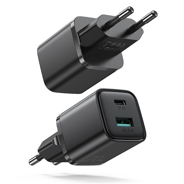 Joyroom 20 W Udgangseffekt USB PD-oplader USB-oplader Telefonoplader Lille og mobil oplader Bærbar Hurtig opladning Til iPad Mobiltelefon