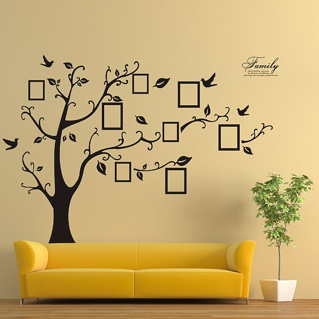 black removable memory tree photo tree foreign trade wall sticker paper factory wholesale 180*250CM