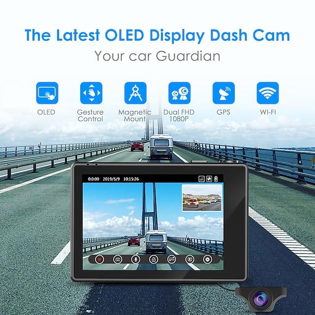 azdome m10 1080p / 2160p full hd car dvr cámara de tablero cmos gran angular de 150 grados con wifi / adas grabadora de automóvil
