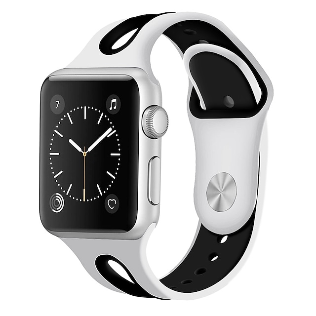 스마트 시계 밴드 용 Apple  iWatch 1 pcs 스포츠 밴드 실리콘 바꿔 놓음 손목 스트랩 용 Apple Watch 시리즈 7 / SE / 6/5/4/3/2/1