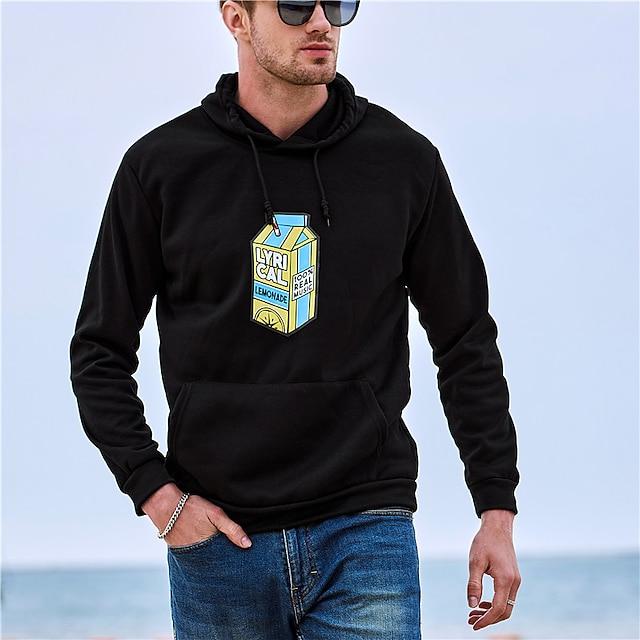 Men's Unisex Plus Size Pullover Hoodie Sweatshirt Lemon Hooded Sport Outdoor Hot Stamping Basic Casual Heavyweight Lyricallemonade Merch Hoodies Sweatshirts Long Sleeve A gray A white A black