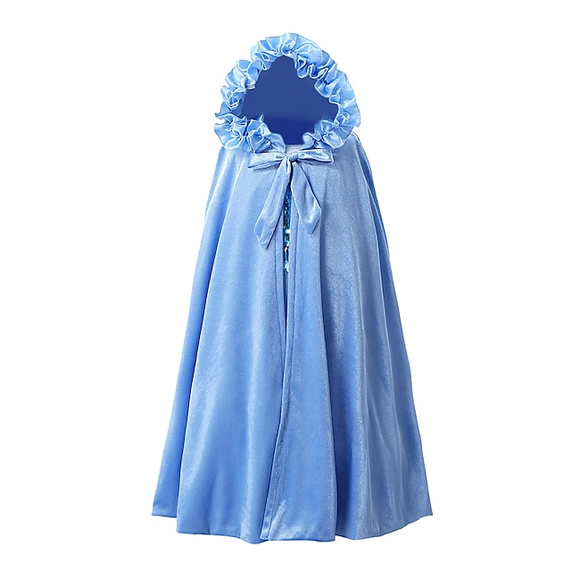 Princess Party Costume Girls' Movie Cosplay Cosplay Purple Yellow Blue Shawl Christmas Halloween New Year Polyester