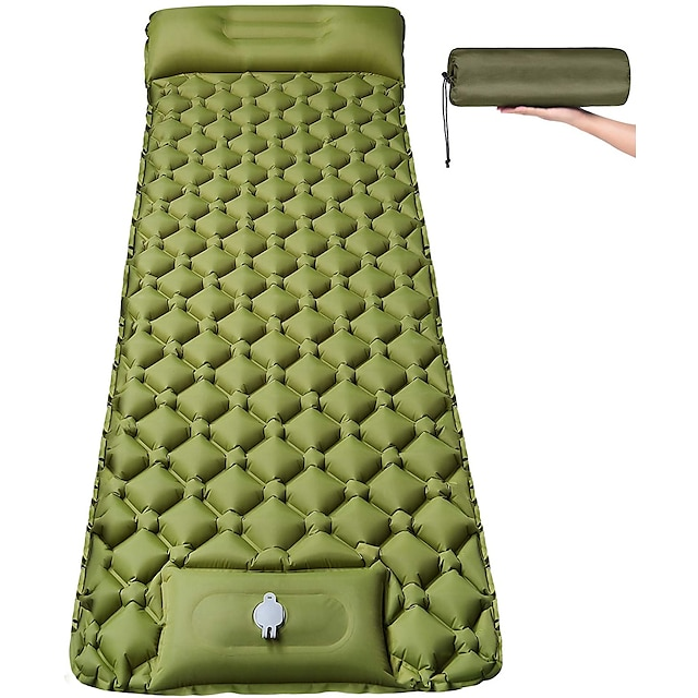 Selvopustende sovepose Camping Pude Luftpude med pude Udendørs Camping Bærbar Ultra Lys (Ul) Fugtsikker Anti-riv TPU Nylon 193*60*6 cm til 1 Person Fiskeri Strand Camping / Vandring
