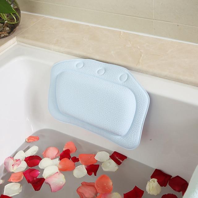 국경 전자 상거래 욕실 베개 pvc 거품 스폰지 욕조 베개 욕조 베개 호텔 목욕 머리 받침 도매