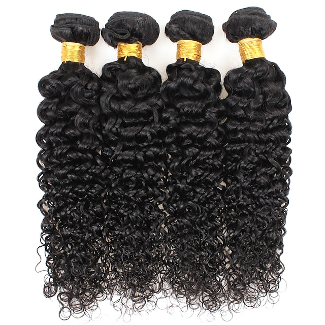 Ishow 3 Bundles Human Hair Weaves Brazil Hair 100% Human Hair 3 Pieces Curly Human Hair Combination Outfit 8-28 Inch Hair Extensions