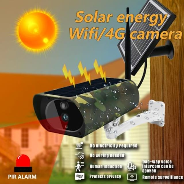 wifi 4g napkamera 1080p HD szolár wifi kamera kültéri vezeték nélküli biztonsági kamera álcázó megfigyelő kamera