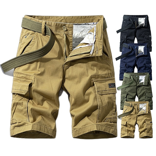 Men's Hiking Shorts Hiking Cargo Shorts Military Solid Color Summer Outdoor 10