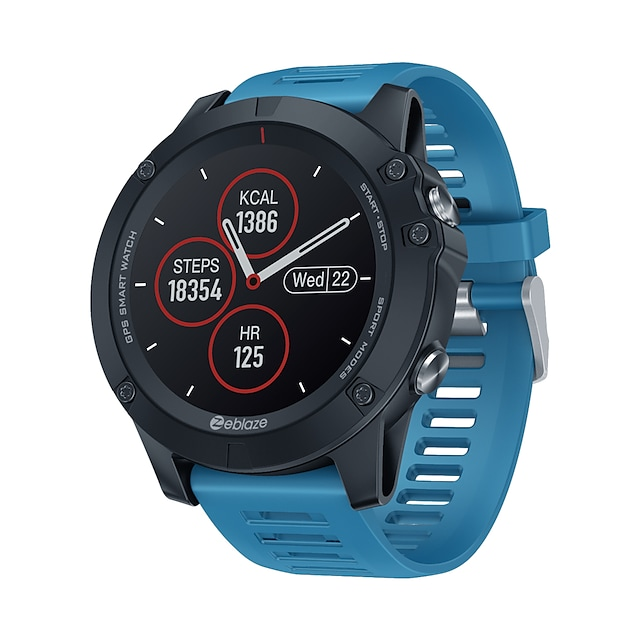 Zeblaze VIBE 3GPS Inteligentny zegarek EKG + PPG Krokomierz Powiadamianie o połączeniu telefonicznym Wodoodporny Ekran dotykowy GPS 40mm etui na zegarek na Android iOS Mężczyźni Kobiety / Sport