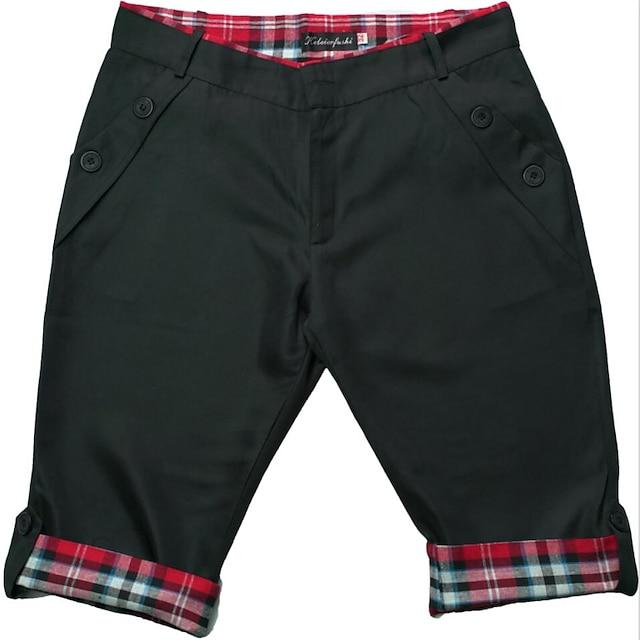 สำหรับผู้ชาย พื้นฐาน กางเกงขาสั้น กางเกงขาสั้นเบอร์มิวดา กางเกง สีพื้น ความยาวเข่า สีดำ สีกากี เทาเข้ม สีเทา