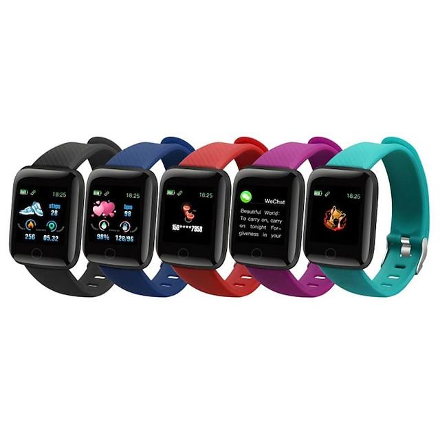 116 plus Smart horloge Bluetooth Stopwatch Stappenteller Gespreksherinnering Waterbestendig Aanraakscherm Hartslagmeter IPX-3 22 mm horlogekast voor Android iOS kinderen Dames / Bloeddrukmeting